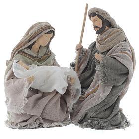 Nativity in brown gauze 15cm s1