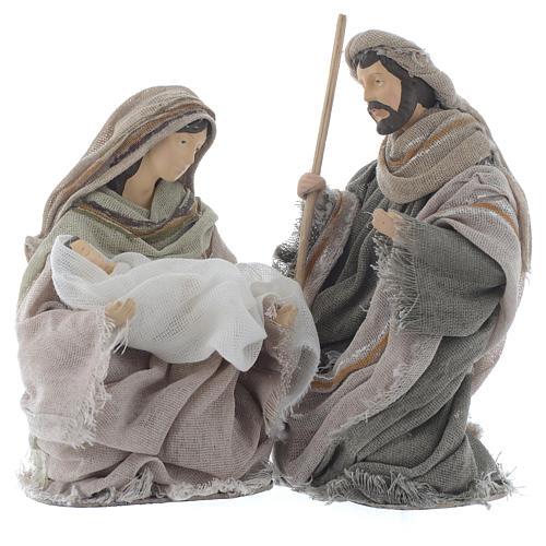 Nativity in brown gauze 15cm 1