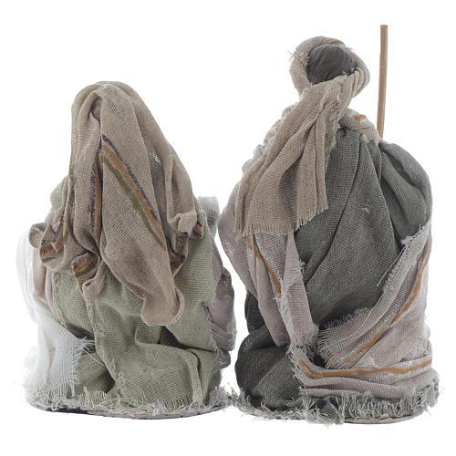 Nativity in brown gauze 15cm 2