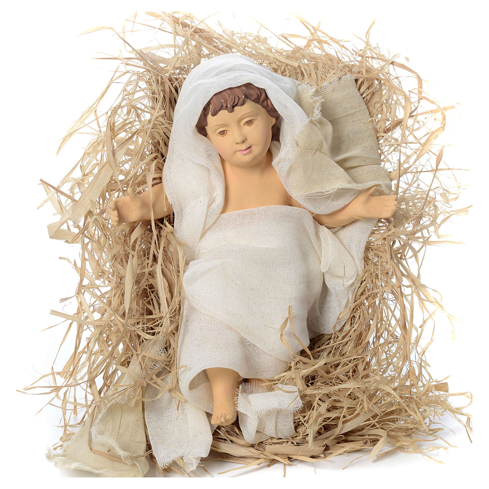 Nativity in fabric and resin, ochre 60cm 3