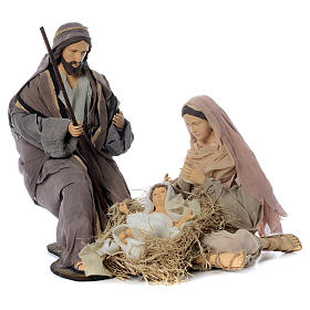 Nativity in fabric and resin, ochre 60cm s1
