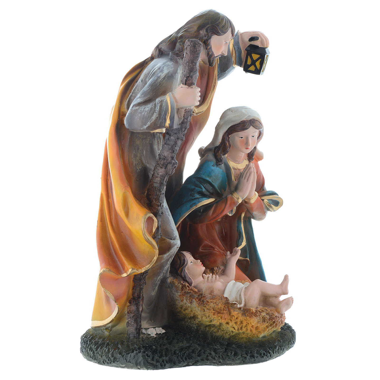 Nativity set with 3 figurines in resin measuring 35cm 3