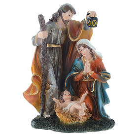 Nativity set with 3 figurines in resin measuring 35cm s1