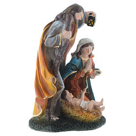 Nativity set with 3 figurines in resin measuring 35cm s3