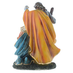 Nativity set with 3 figurines in resin measuring 35cm s4