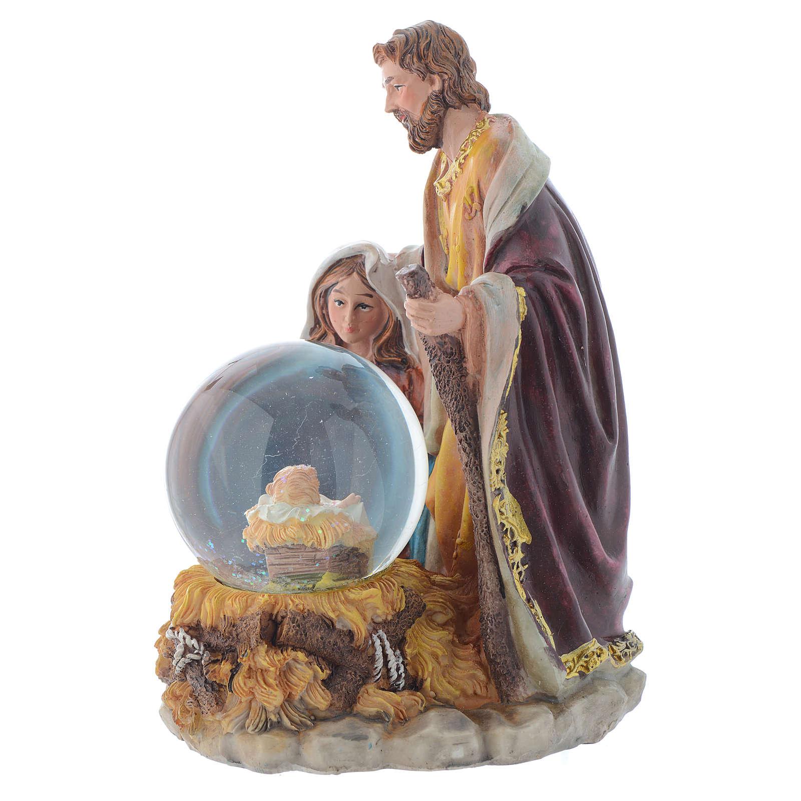 Nativité résine avec boule 21,5 cm 3
