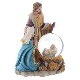 Nativité résine avec boule 21,5 cm s3