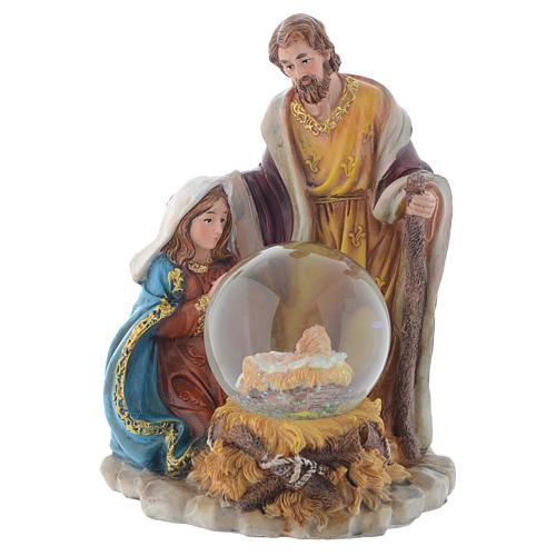 Nativité résine avec boule 21,5 cm 1