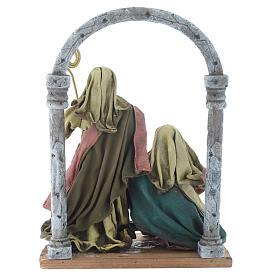 Natividad con arco 40 cm resina acabado multicolor s4