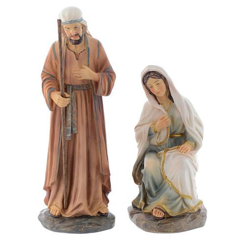 Scène Nativité 3 pcs 20 cm en résine 2