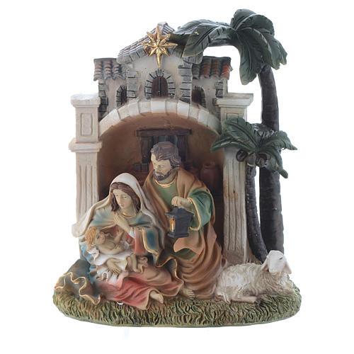 Nativity scene in resin measuring 16.5cm 1