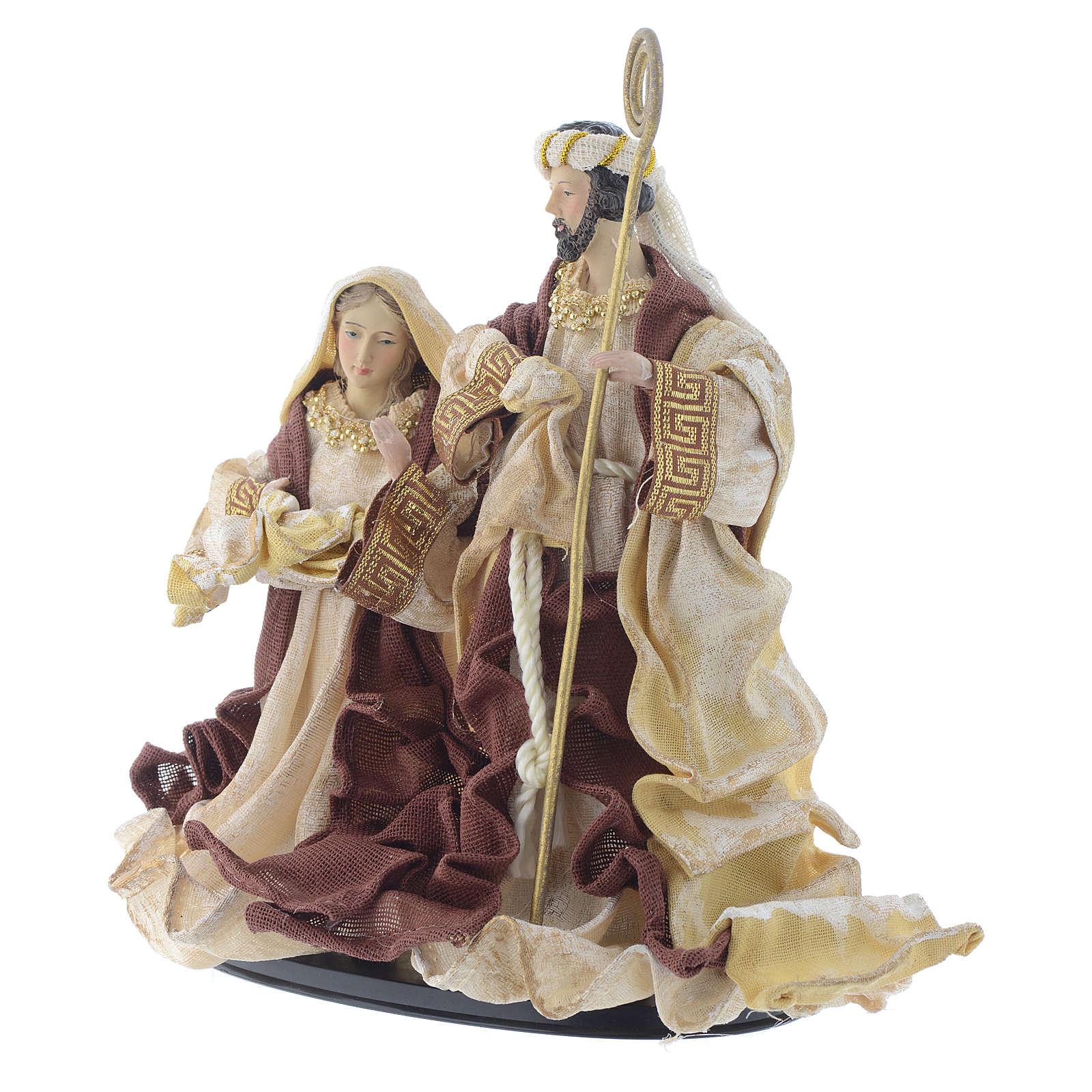 Nativity scene with arch in Cream Brown resin measuring 25cm 3