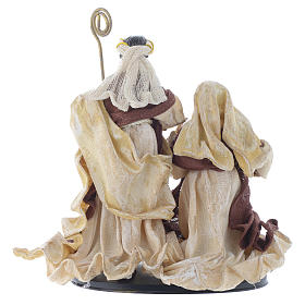 Nativity scene with arch in Cream Brown resin measuring 25cm s4