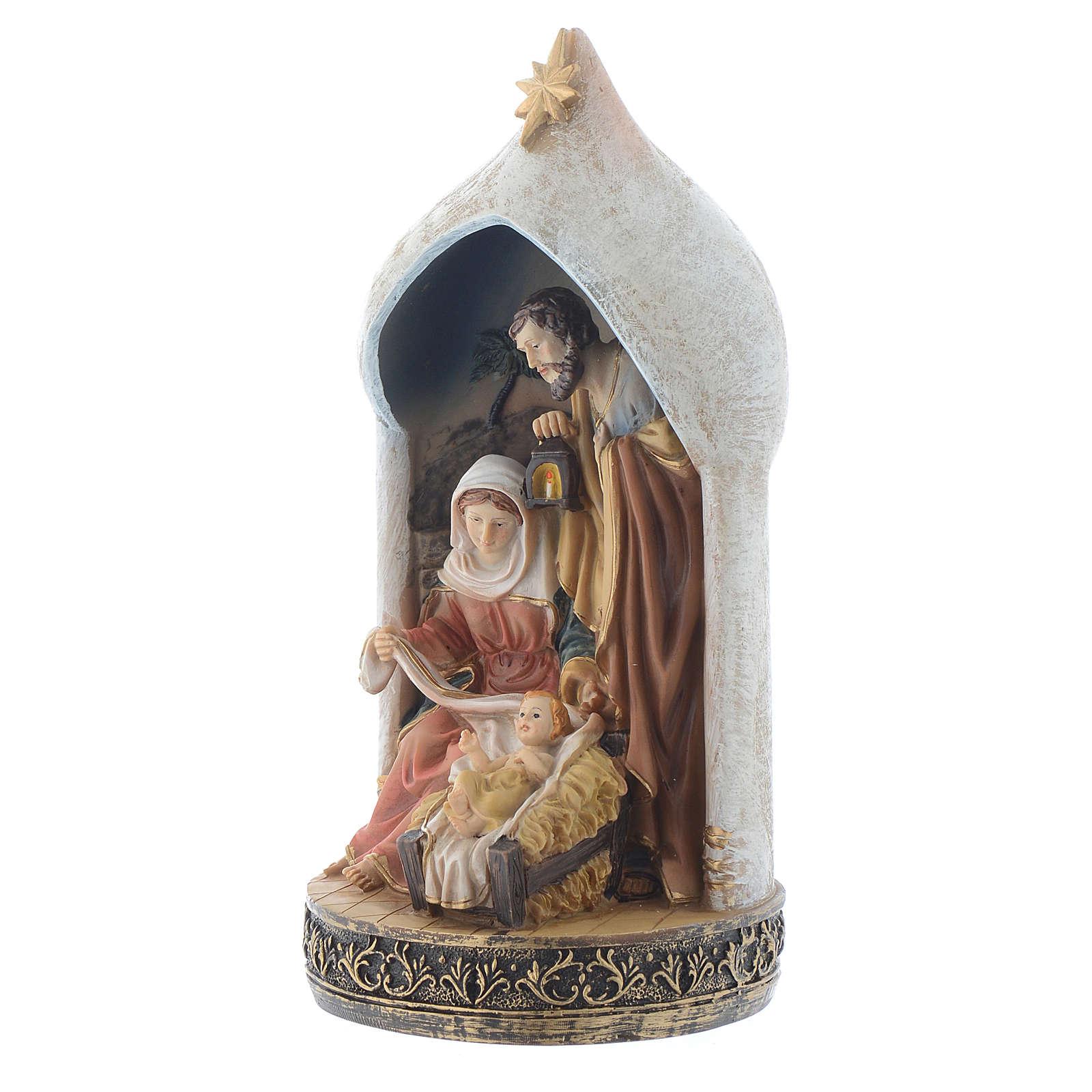 Scène Nativité 18 cm en résine 3