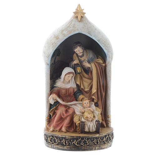 Scène Nativité 18 cm en résine 1