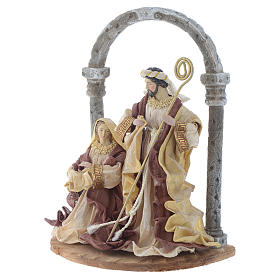 Natività con arco 41 cm resina Cream Brown s2
