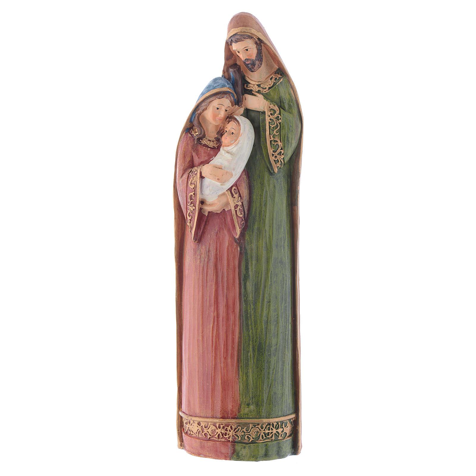 Scène Nativité 28,5 cm en en résine multicolore 3