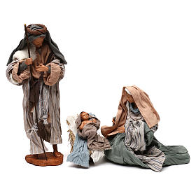 Nativity scene with animals, stable and Holy Family 30cm s2