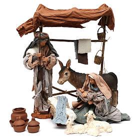 Escena Natividad con animales y toldo 30 cm s1