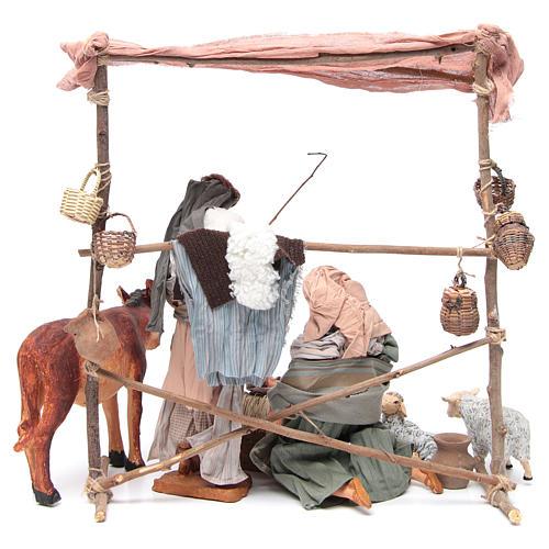 Natività scena con animali e capanna cm 30 5