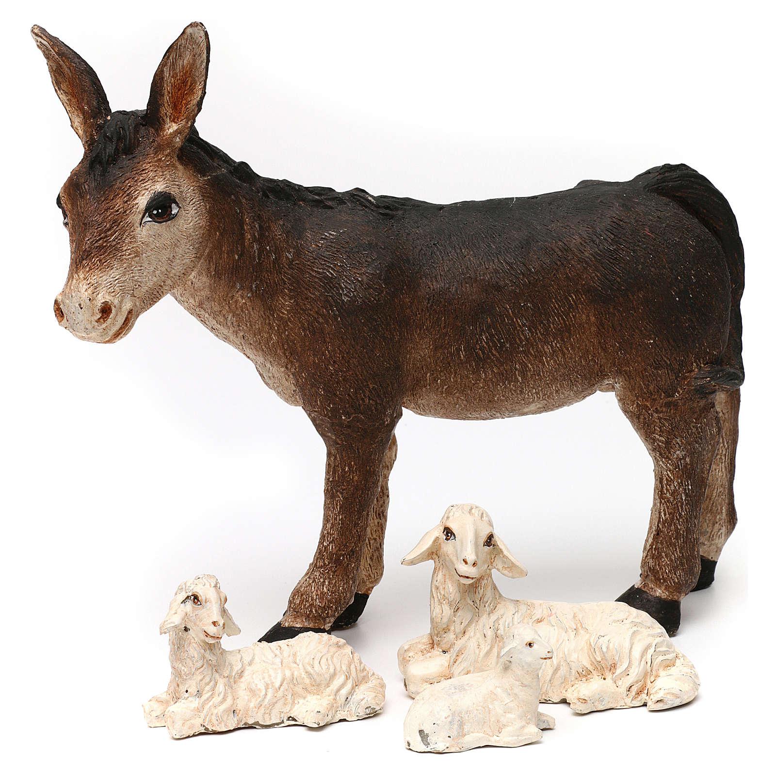 Święta Rodzina ze zwierzętami i chatą 30cm 3