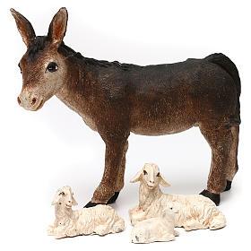Święta Rodzina ze zwierzętami i chatą 30cm s4