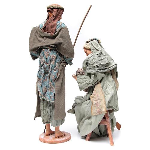 Nativité 90 cm style shabby 4