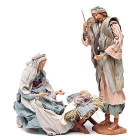 Light blue Nativity with fabric, 45cm figurines s4