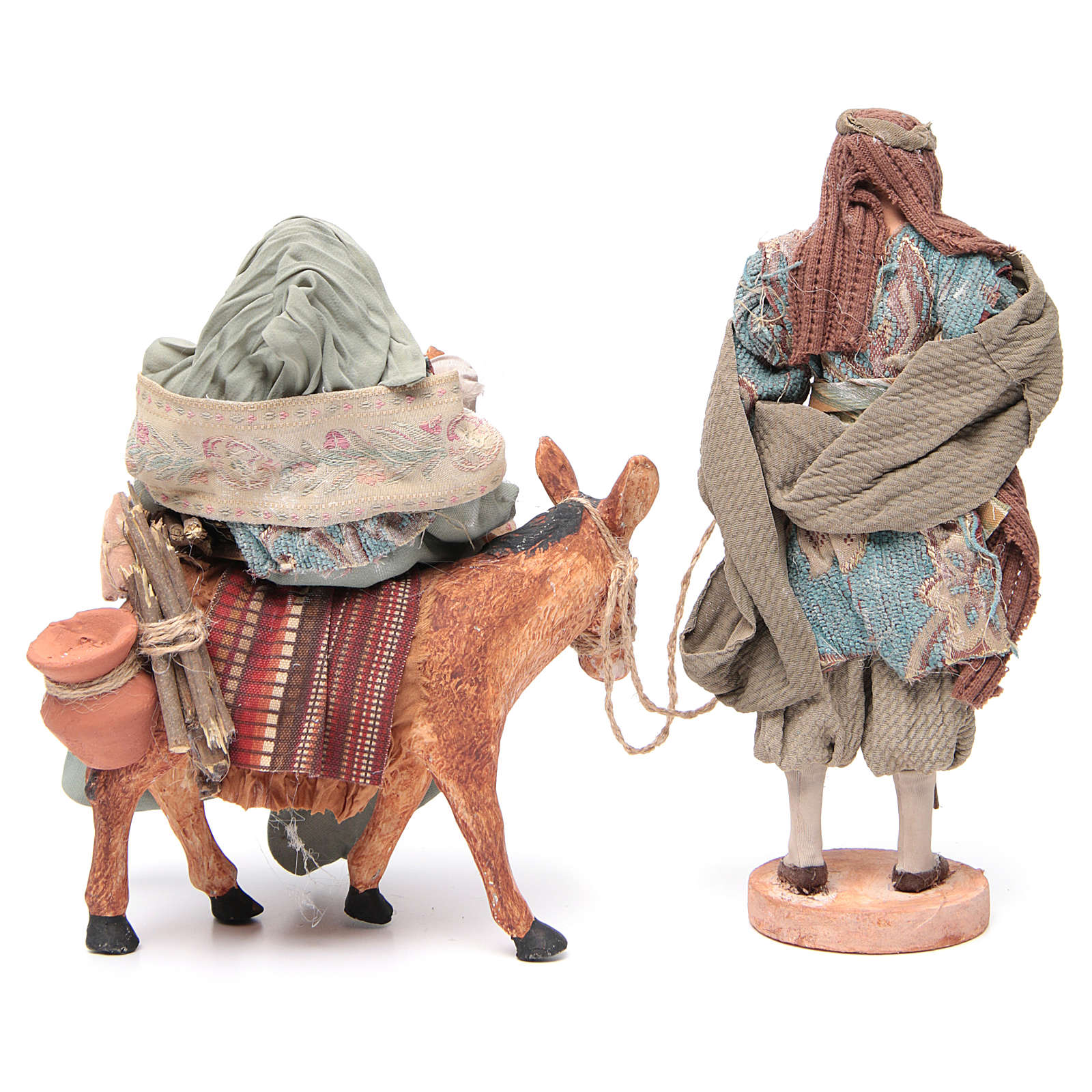 Light blue Nativity on donkey, 28cm figurines 3