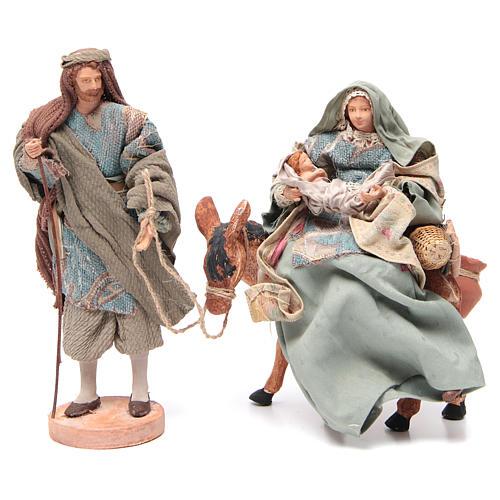 Święta Rodzina i osioł 28cm 1