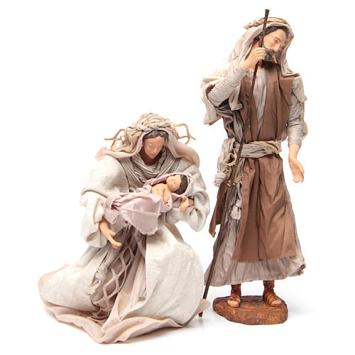 Pearl Nativity, 30cm figurines sitting 2