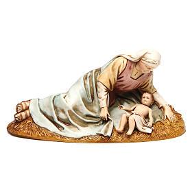 Natividade para presépio Moranduzzo com figuras de altura média 13 cm s2