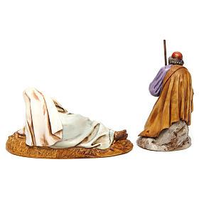 Natividade para presépio Moranduzzo com figuras de altura média 13 cm s5