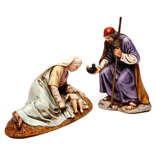 Natividade para presépio Moranduzzo com figuras de altura média 13 cm 1