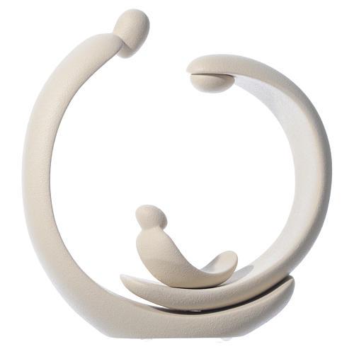 Natività in gres porcellanato color avorio 41 cm 5