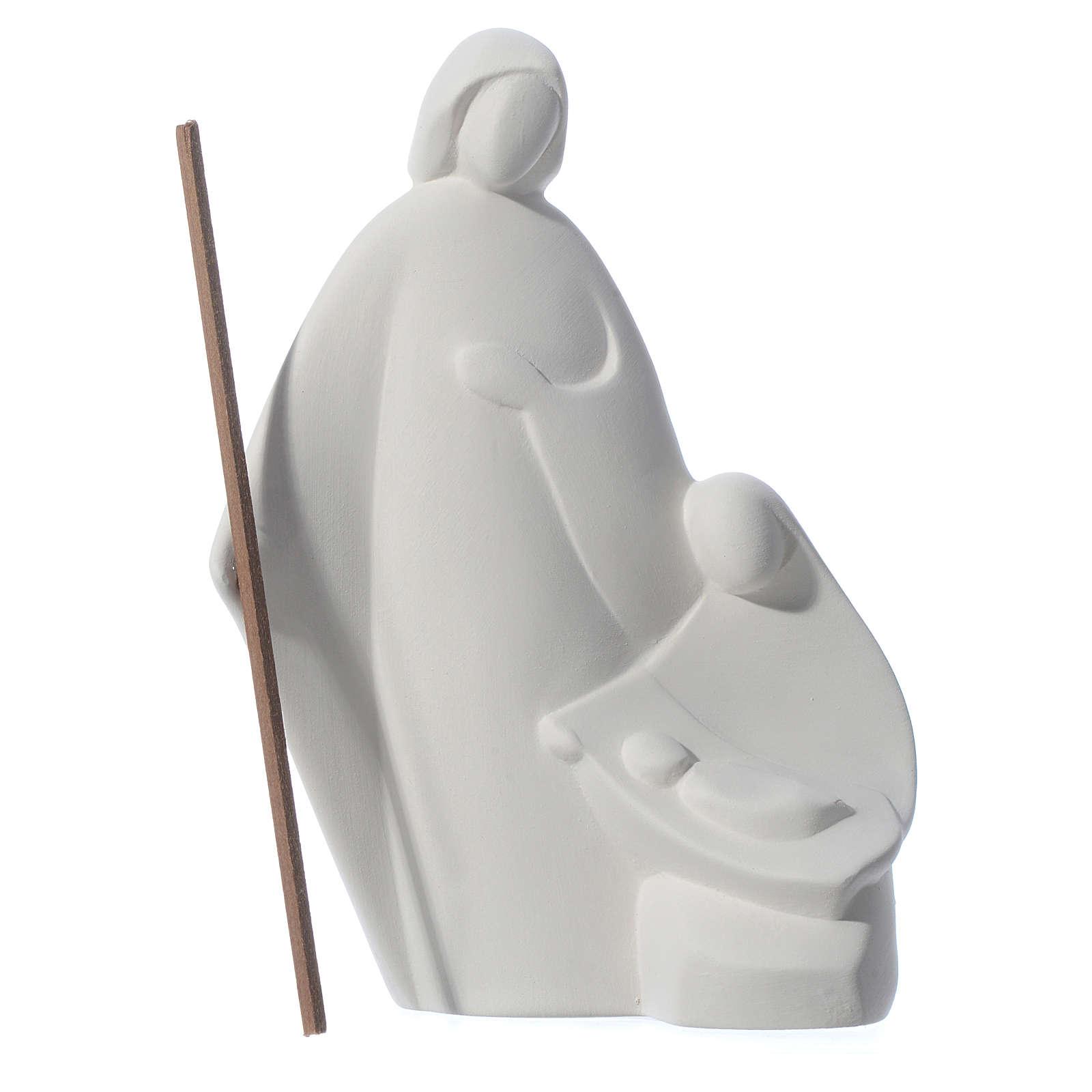 Sacra Famiglia Nives cm 15 Ceramica Centro Ave 3
