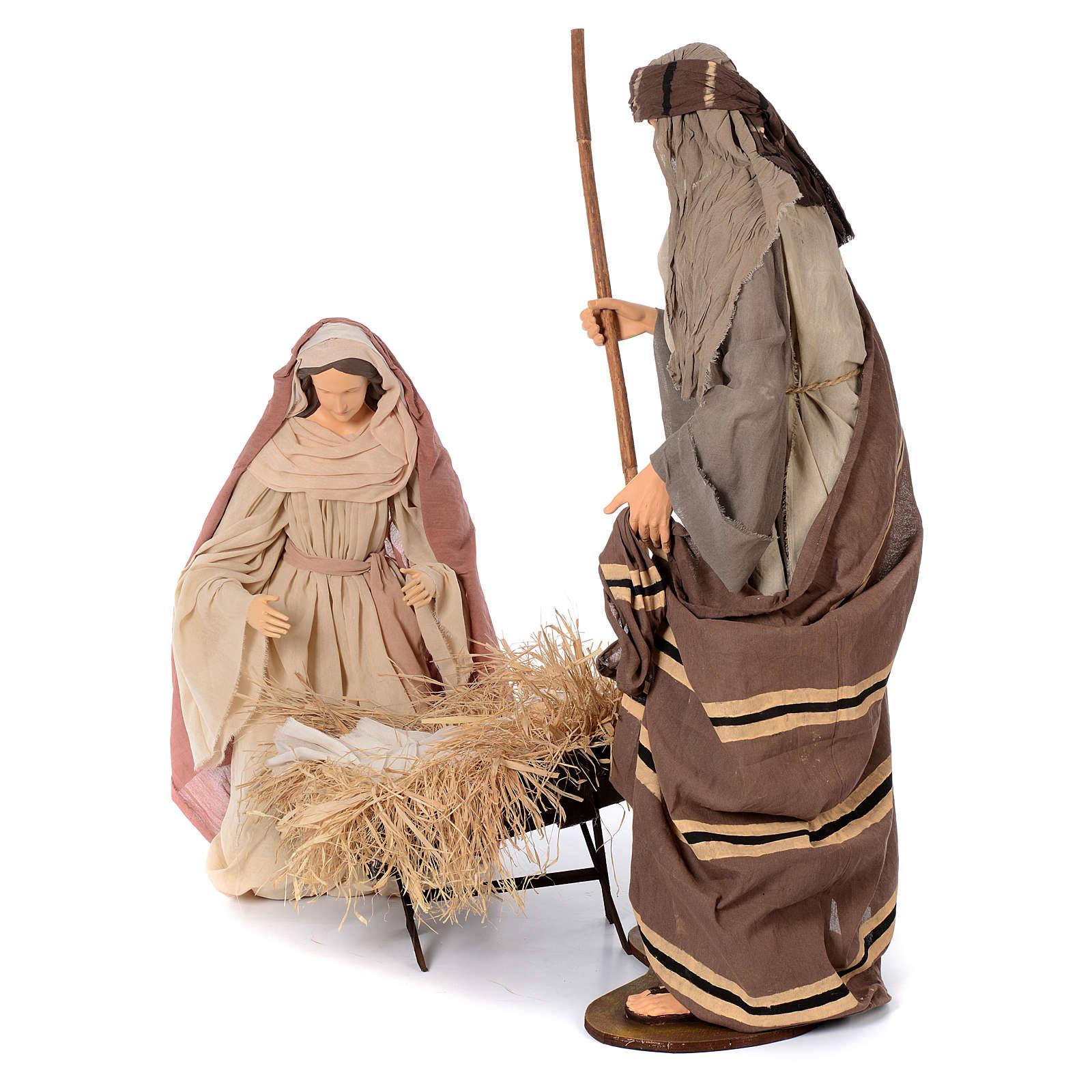 Natividad estilo country resina y tela 120 cm 3