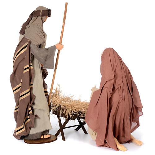 Natividad estilo country resina y tela 120 cm 4