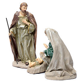 Holy family in resin 30 cm set of 3 pieces s2