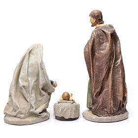 Holy family in resin 30 cm set of 3 pieces s4
