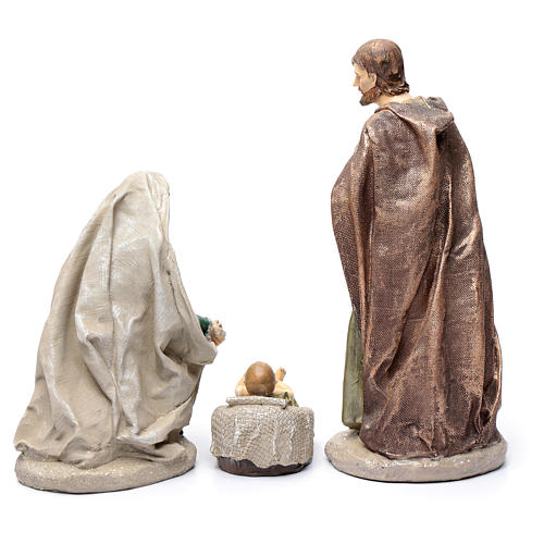 Holy family in resin 30 cm set of 3 pieces 4