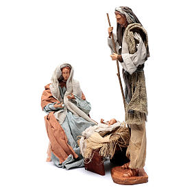 Holy family in resin with stool country style 45 cm s3