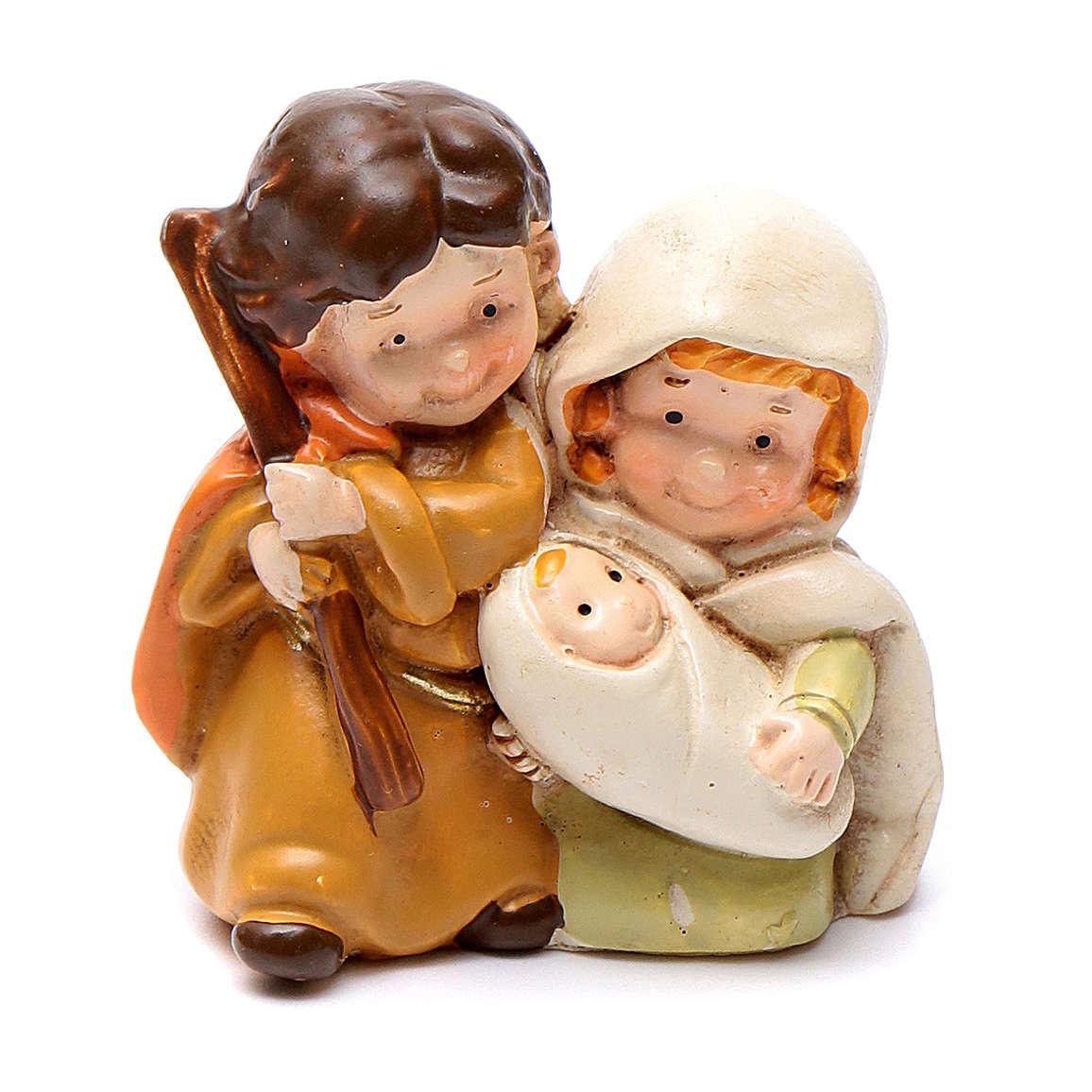 Natividad de resina 4 cm línea niños 3