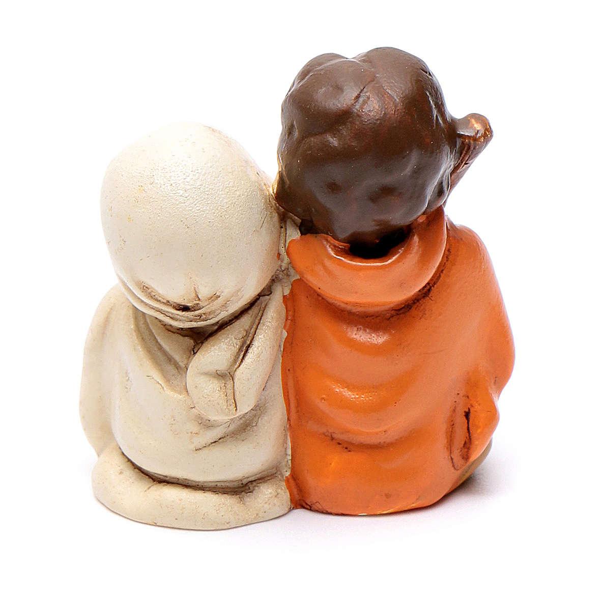 Natividade em resina 4 cm linha crianças 3