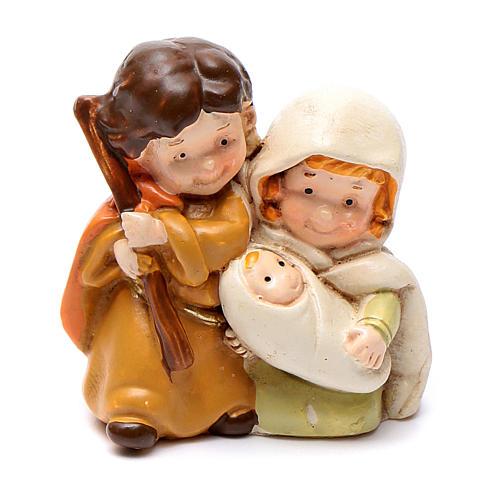 Natividade em resina 4 cm linha crianças 1