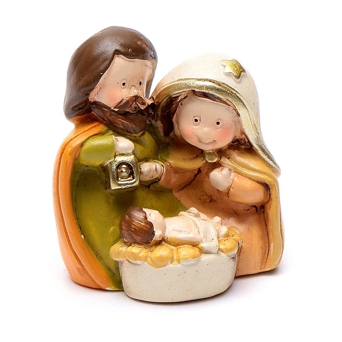 Natividade 4 cm linha crianças em resina 3