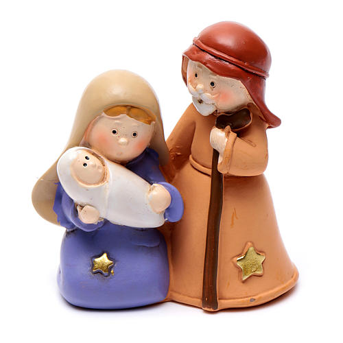 Resin Holy family 6,5 cm children collection 1