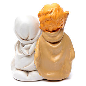 Resin Holy family 10 cm with light children collection s2