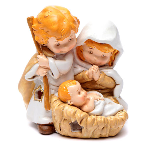 Resin Holy family 10 cm with light children collection 1