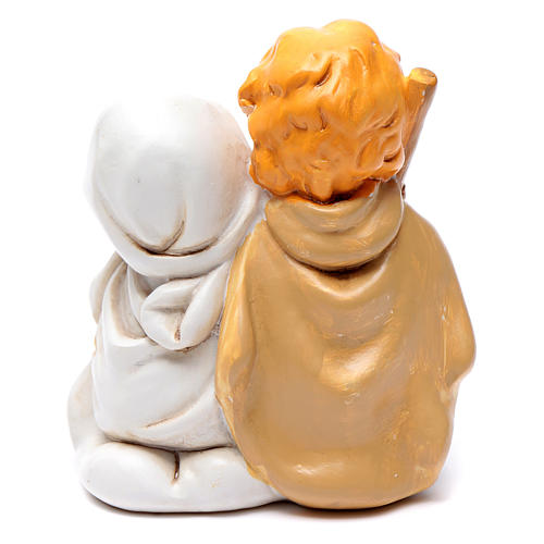 Resin Holy family 10 cm with light children collection 2